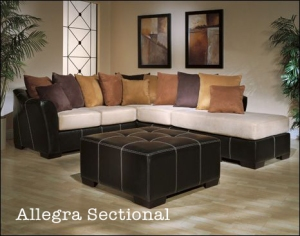 Allegra Sectional comes with multiple loose pillows for color and comfort
