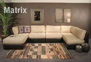 Modular sectionals can easily be configured to fit your needs.