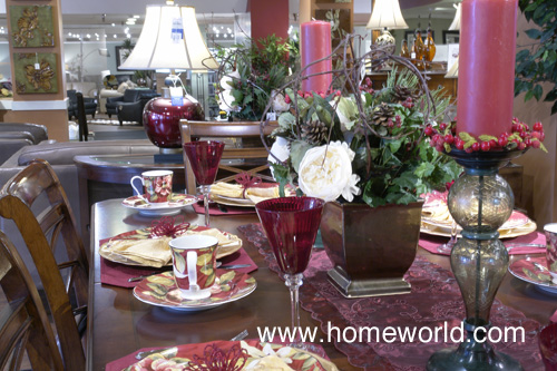 Festive dining table at HomeWorld Honolulu