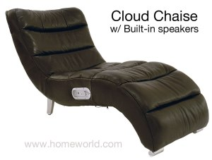 Cloud Chaise Lounger with Built-in speakers