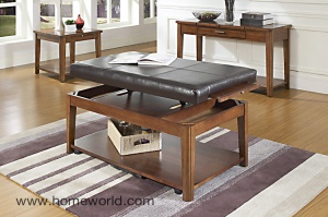 Davis coffee table is a coffee table, ottoman and lift-top desk.