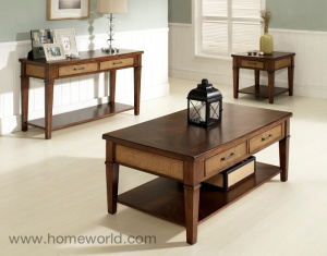 Mesa Coffee Table with shelf and 2 storage drawers