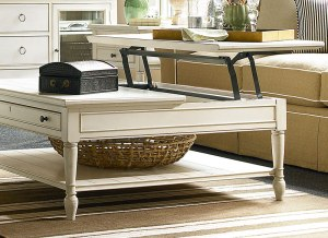 Summer Hill Lift-top coffee table keeps your laptop at the ideal height while typing.