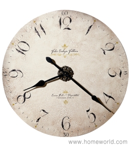 """Enico Fulvi Wall Clock by Howard Miller Oversized. 32"""" round"""