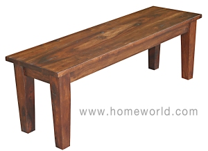 "Vienna Dining Bench can be used in the dining room or bedroom. 66""x16""x18""h"