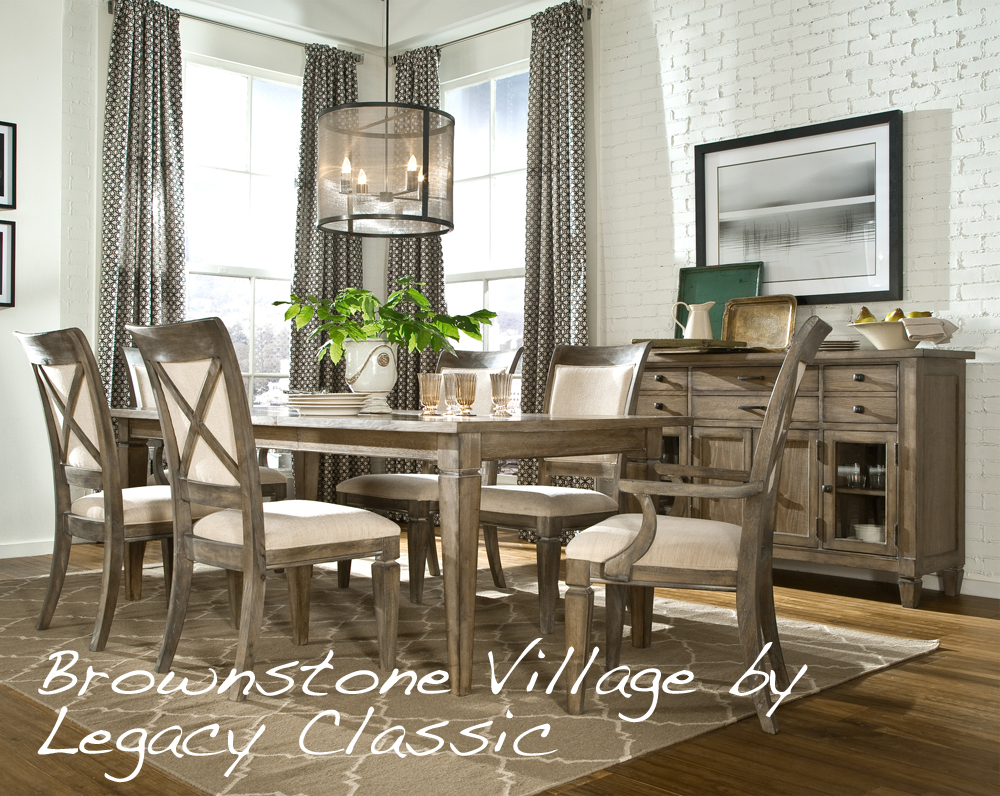 Brownstone Village Dining by Legacy Classic. Smartly crafted with character and convenience   Bringing together