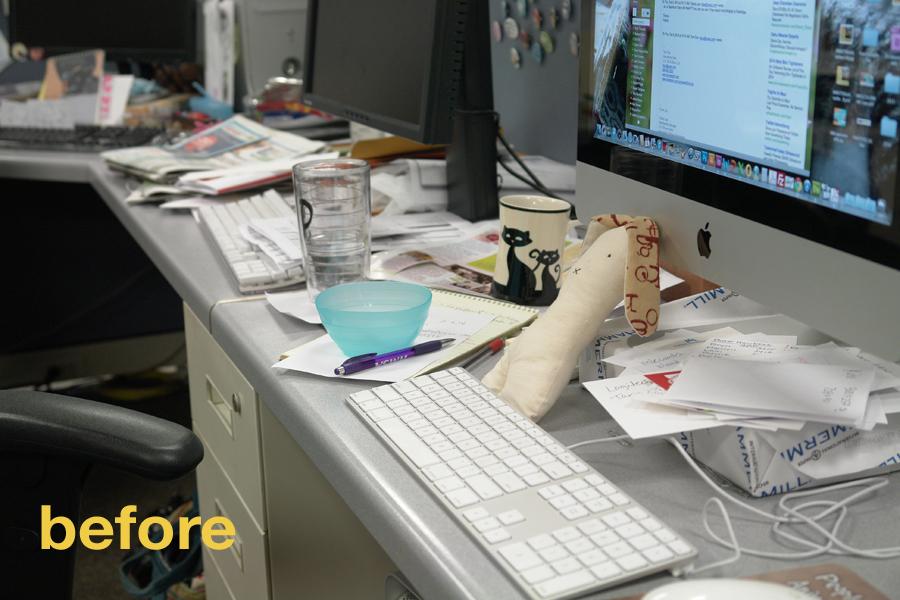 before after the decluttered desk bringing together stories