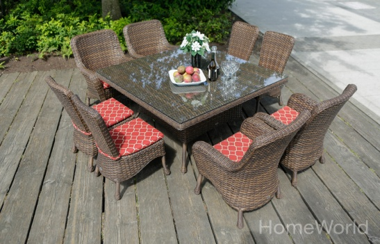 Havana Outdoor Dining (available by special order). Havana Bar Table and Bar Chairs (not shown) are available in HomeWorld stores.