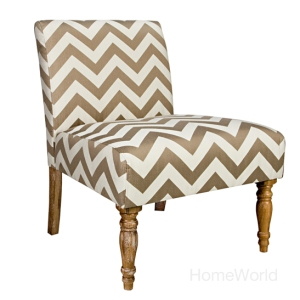 Bradstreet Chair in brown chevron by Angelo:HOME at HomeWorld.
