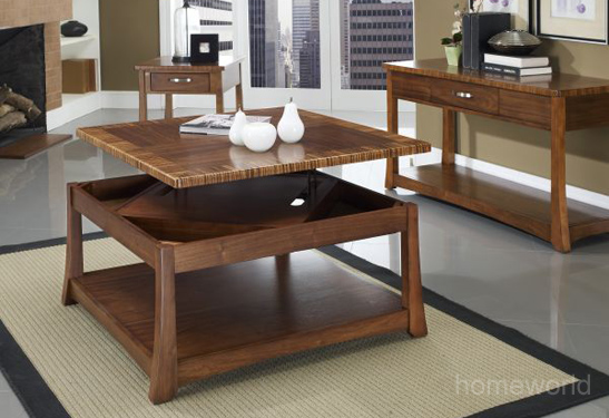 Milan lift-top cottee table by HomeWorld.