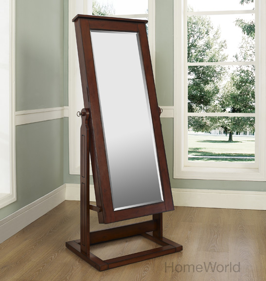 Hampton Chevel Jewelry Armoire by Powell. Shown closed at homeworld.com