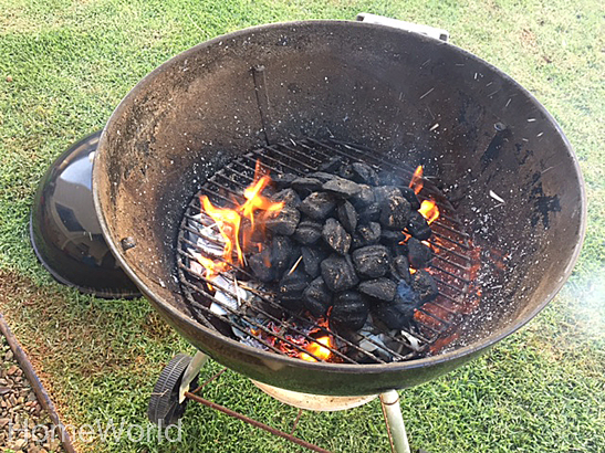 Now for the fun part! Start the fire using your favorite charcoal.