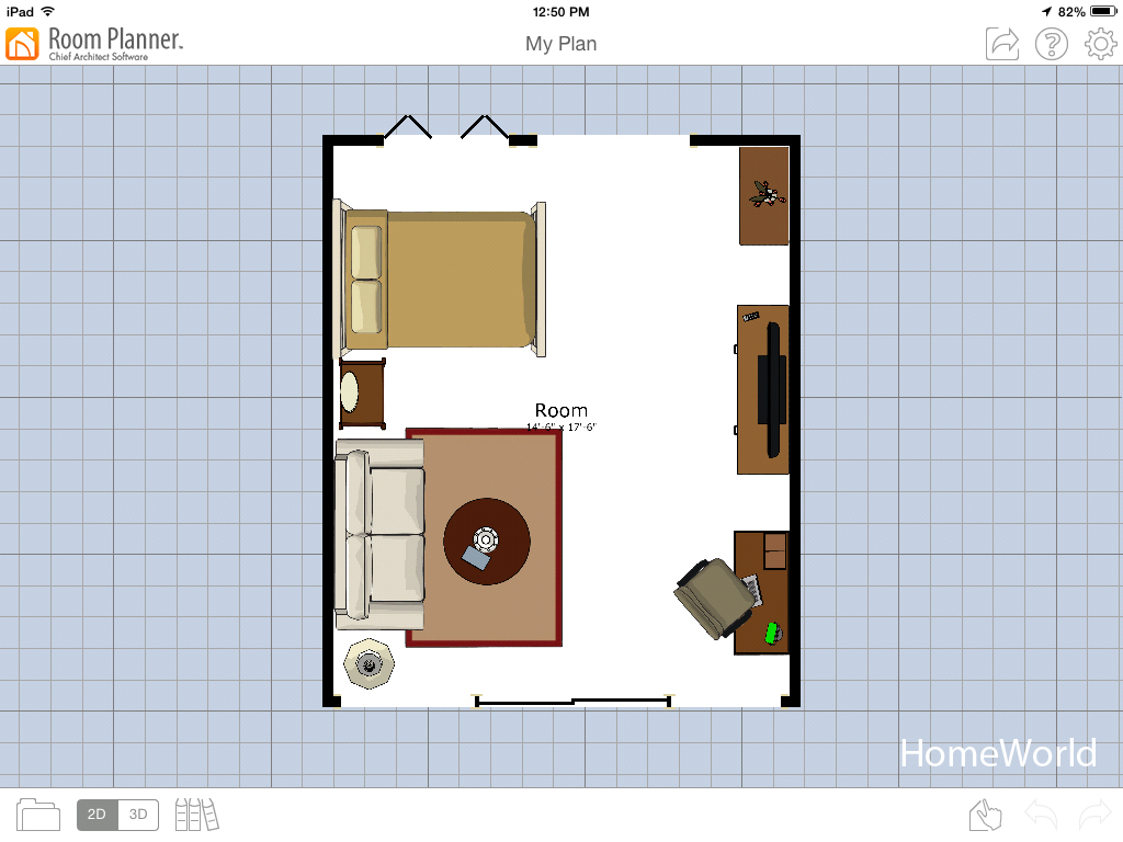 Using The Room Planner App On His Tablet, Michael Designed This Studio Room  For His Design Ideas