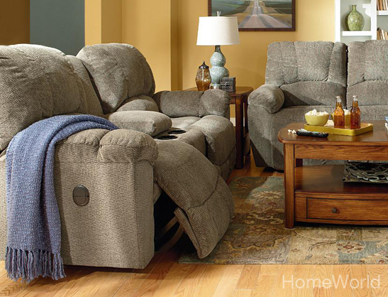 Hayes Power Loveseat with Console by La-Z-Boy.