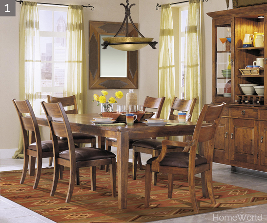 "340-096 96"" Dining Table(1 leaf 72-96) / 895 Buffet(3 shelves) / 896 Hutch(6 shelves) / 900 Wood Back Side Chairs(4) / 905 Wood Back Arm Chairs(2)"
