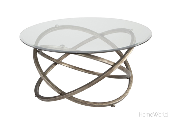 The stunning Escala collection includes the coffee table, round end table, and sofa table.