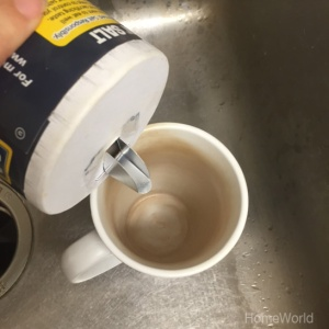 salt in coffee mug
