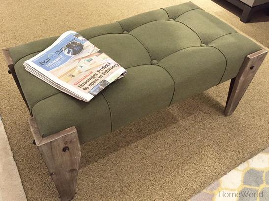 green petite bench